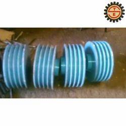 BLUE Solid V-Belt Pulley