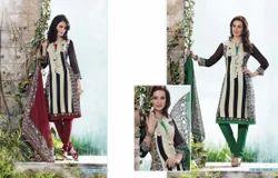 Cotton Anarkali Designer Unstitched Suits, Dry clean