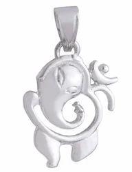 925 Sterling Silver Pendant Om Ganpati