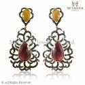 Ruby and Sapphire Gemstone Earring