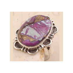 Purple Copper Turquoise Ring