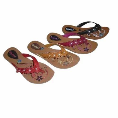Fancy Ladies PU Slippers, Ladies Flip