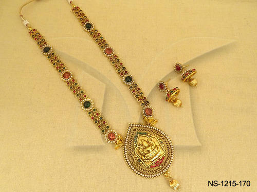 Laxmi ji temple jewellery necklaces at rs 850 sets religious laxmi ji temple jewellery necklaces aloadofball Gallery