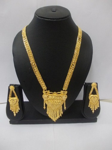 1 gram gold forming long necklaces at rs 1200 set gold plated 1 gram gold forming long necklaces aloadofball Images