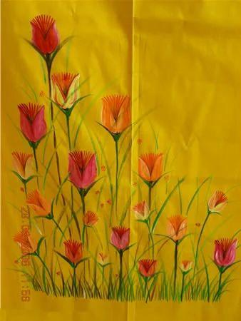 Tulips On Kurta Ladies Dresses Apparels Clothings