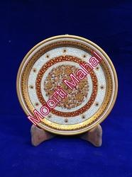 Gold Work Marble Plate