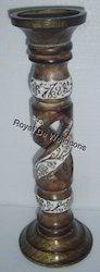 Antique Wood Candle Holder