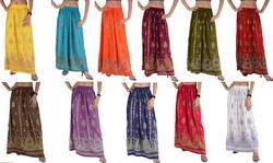 Hand Embroidered Hippy Gypsy Skirts. Bonhomie Long Skirt