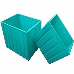 Sky Blue Solid Box Plastic Molded Crate (Processing Crate), Capacity: 100 Ltr To 1500 Ltr
