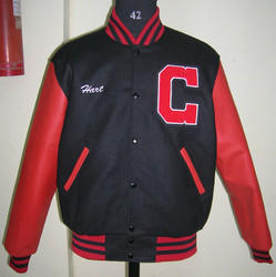Scarlet Black Varsity Jacket - Plain