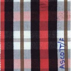 NGASCOTT-1-F Indigo Yarn Dyed Checks Fabric