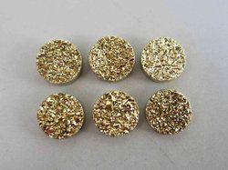 Golden Druzy Round 12mm Cabochon