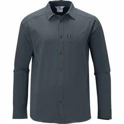 Men Dark Grey Full Sleeves Shirts