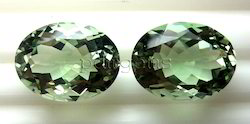 Green Amethyst Oval Cut Gemstone