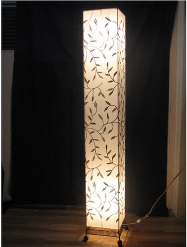 Square fabric floor lamp square fabric floor lamp aloadofball Image collections
