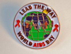 Aids Day Lapel Pin