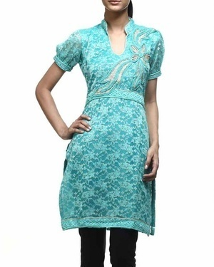 Stand Collar Designs For Kurti : Stand collar cotton kurti at rs piece s kolkata id