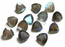 Natural Labradorite Faceted Trillion Lot Gemstone