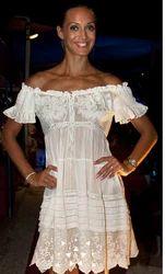 Ladies Floral Ruffle Dress