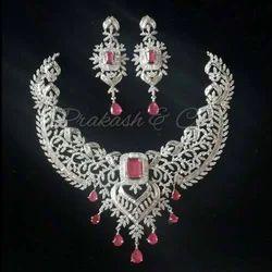American Diamond Bridal Necklace