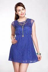 Purple Net Dress