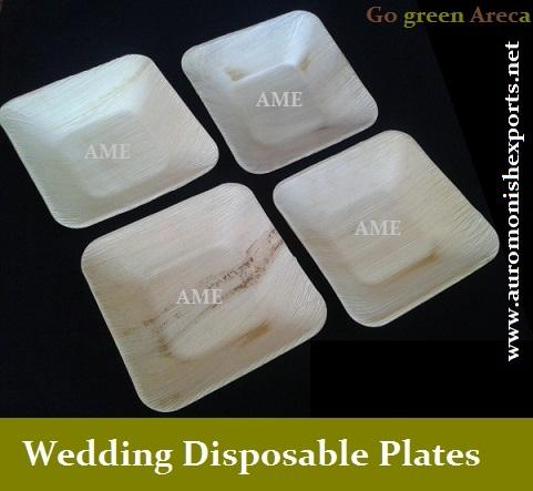Wedding Disposable Dinner Plate & Wedding Disposable Dinner Plate - Auro Monish Exports Villupuram ...