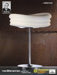 Mediterraneo Table Lamp 2l Large Chrome Opal