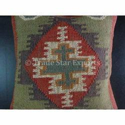 Kilim Jute Cushion Cover