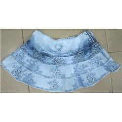 Ladies Short Jeans Skirt
