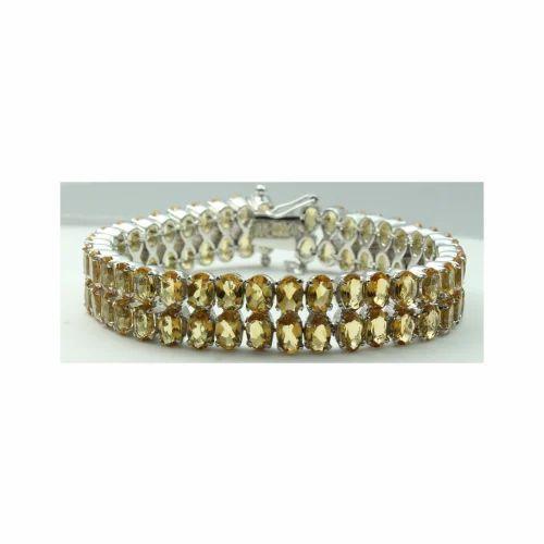 0d4627aee17305 Citrine Gemstone 925 Sterling Silver Bracelet at Rs 8500 /piece(s ...
