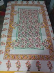 Cotton Printed Table Cover With Napkin