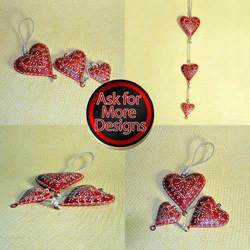 Iron Sheet Hanging Hearts for Home