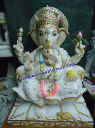 Lord Marble Ganesh Ji Murti