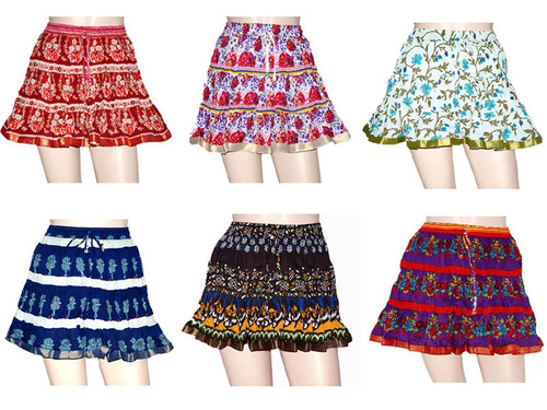 Women Designer Short Mini Skirt at Rs 250, Designer Jaipuri ...