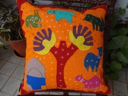 Village Theme Cushion Cover