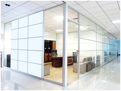 Glass Door Partition Offices