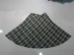 Checks Short Skirt