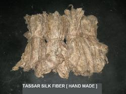 Tussar Silk Handmade Fiber or Waste