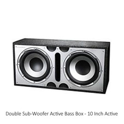 Double Sub Woofer Active Bass Box 10 Inch Active