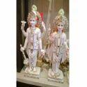 White Marble Vishnu Laxmi