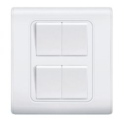 four gang one way switch - view specifications & details of gang, Wiring diagram