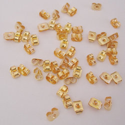 Gold Vermeil Butterfly Style Ear Stud Back Stoppers