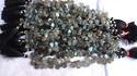Labradorite Faceted Pear Beads