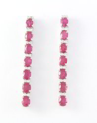 925 Ruby Gemstone Sterling Silver Earring