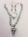 Designer Rhodium Necklace Set