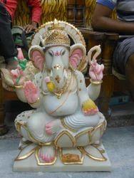 Lord Ganesh on Lotus