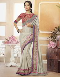 Georgette Jacquard Saree