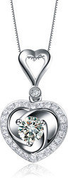 Plated Diamond Sterling Silver Pendent