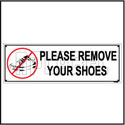 151110 Remove Your Shoes Sign Name Plate