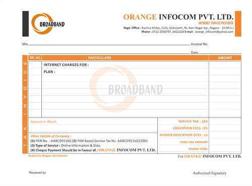 Invoice Book Printing Services In Gandhibagh Nagpur Id 8495990088
